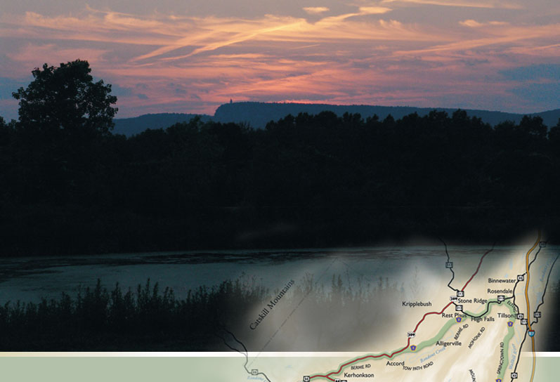 Shawangunk Mountain Scenic Byway lake in the evening