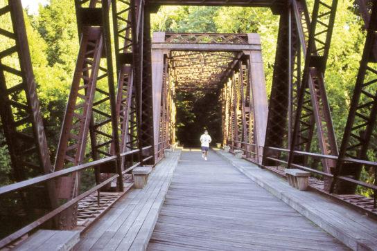 New Paltz Rail Trail Bridge Runner